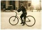 Bike Messenger- 1914 by Step-in-Time-Stock