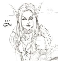 High Elf priestess sketch 01 by Vladsnake