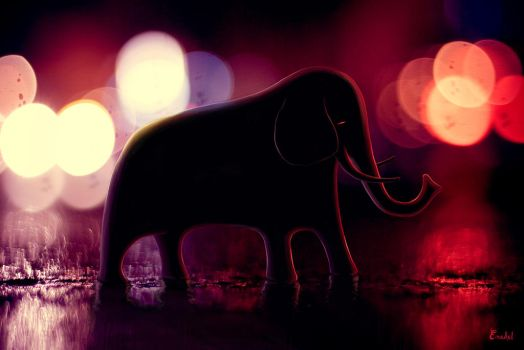 Elephant Parade by Eredel