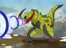 Favourite Dragon-type Pokemon: Haxorus by Kumata