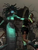 LARA IN THE GORGONS LAIR 2 by lordcoyote