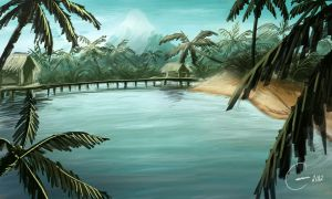 Tropical Island by ArtWarrior25