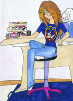 thinking of what to draw by rumiko18