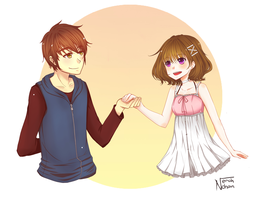 Commission: Seiji and Momo by Nerah-chan