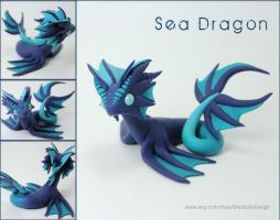 Polymer Clay Sea Water Dragon WIP by ShaidySkyDesign