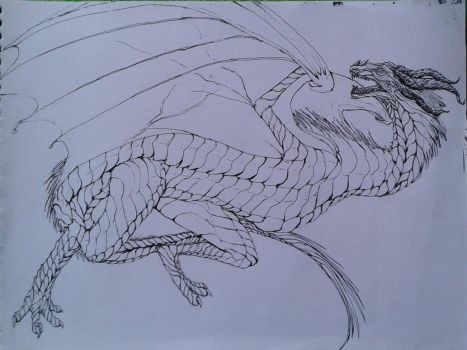 Armored dragon design by noname4lyf