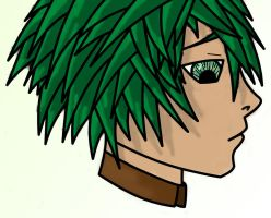Face green hair blurred by Ruler-of-Mars