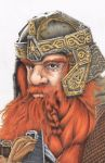 Gimli Illustration for Lord of the Rings by rodneyfyke