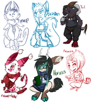 sick sketch stream batch 1 by MystikMeep