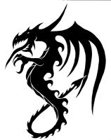 tribal dragon. by decay1134