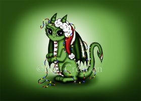 cute little Christmas Dragon by PeziCreation