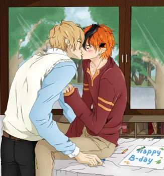 A Happy Birthday gift -yaoi- by D3ra
