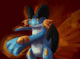 Swampert ready to fight by MusicalCombusken