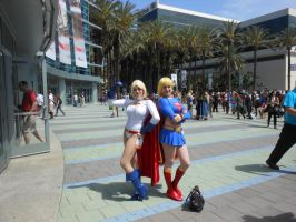 Wondercon 2015  Power Girl and Supergirl by DougSQ