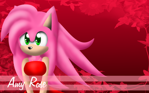 Amy Rose Wallpaper -fail- by Libra-Dragoness