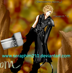cloud strife close up by Seraphim210