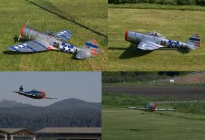 RC P-47 Thunderbolt in action by RRVISTAS