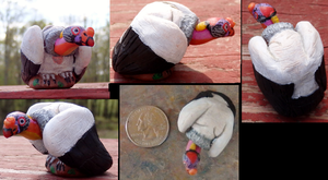 1 Inch King Vulture Totem by DancingVulture