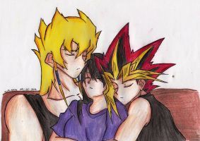 Threesome Nap (''v'') by YuGiOh4Ever