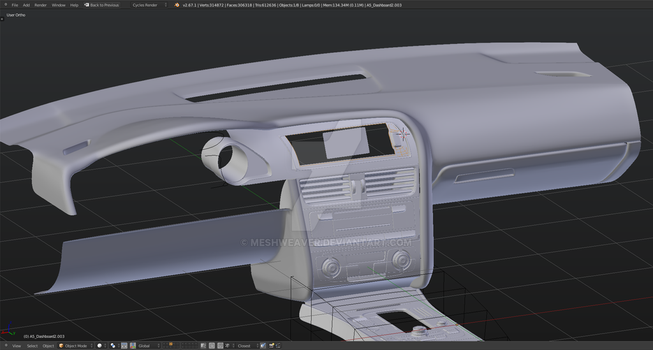 2012 Audi A5 - Interior WIP 2 by MeshWeaver