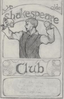 Shakespeare Club Poster by Qcraw