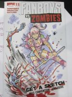 Amanda vs Zombie by theFranchize