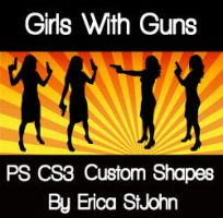 Girls With Guns PS CS3 Shape by estjohn