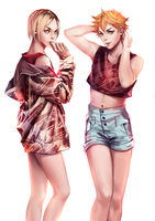 Kenma and Hinata by rachelhuey88