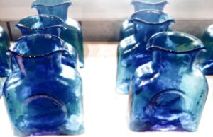 Blue Glass Pitchers by alimuse