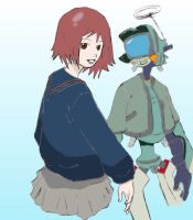 Mamimi and Canti by Kaijiin by FLCL-CRUX