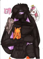 Umao and the babies bunnies by sheezy93