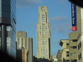 Cathedral of Learning in Pittsburgh street view by defyinggravity10