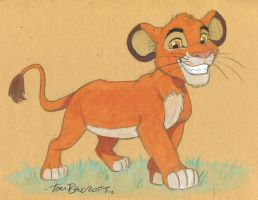 Simba in watercolors by tombancroft