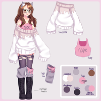 Persona - Ref Sheet by Miyurinee