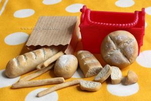 Bread - Clay Miniatures by thinkpastel