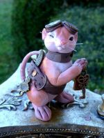 Dodger - Steampunk Mouse Sculpture by MysticReflections