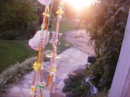 Homemade windchime by FoxiArtist