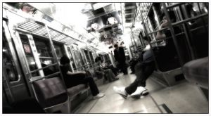On the Chuo-line, Tokyo by Bekon