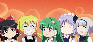 Touhou - The heroines by EvilCoco95