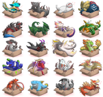 Box Monsters 1-20 by CanesCM