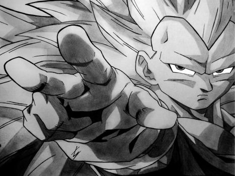 [Old] Vegeta Super Saiyan 3 by SlimeGear