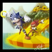 Sonic vs Knuckles by TheDailyNissan