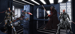 Captain America and Deathstroke vs Kylo  and Maul by WOLFBLADE111