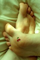 Cherry Toes by Foxy-Feet
