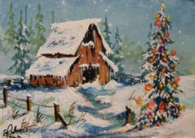 ACEO Country Christmas by annieoakley64
