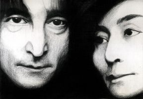 John Lennon and Yoko Ono by margo98