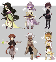 adoptables batch 2  (closed) by catne