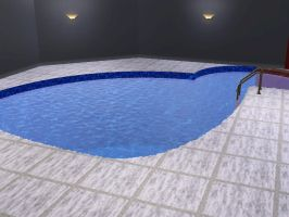 Indoor Gym pt 1: Pool (Sims3) by TheLazyRulee