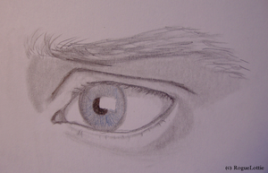 Elijah Wood Eye Sketch by RogueLottie