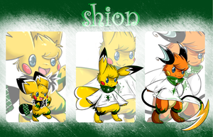 RC: Shion [darkgreen-white] by Pikachim-Michi